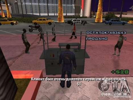 Vendedor de cachorro-quente para GTA San Andreas