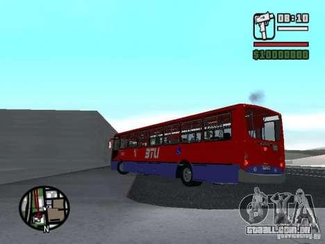 Busscar Urbanuss Pluss VW 17-230 EOD Alongado para GTA San Andreas traseira esquerda vista