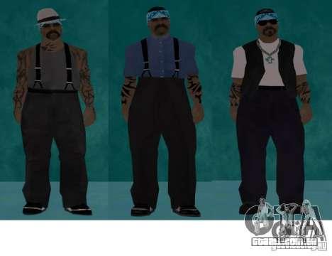 Bandas de peles HQ para GTA San Andreas segunda tela