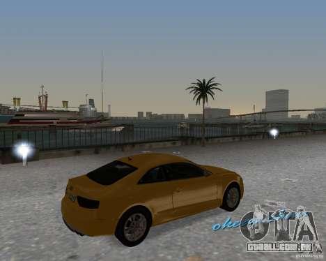 Audi S5 para GTA Vice City vista direita