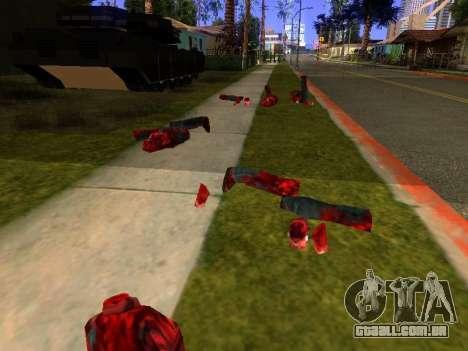 Massacre da serra elétrica v. 2.0 para GTA San Andreas por diante tela