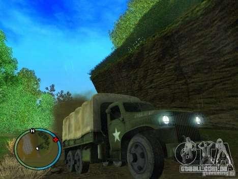 Millitary Truck from Mafia II para GTA San Andreas vista traseira