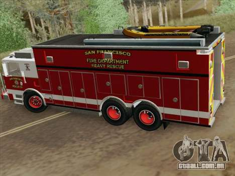 Pierce Walk-in SFFD Heavy Rescue para vista lateral GTA San Andreas