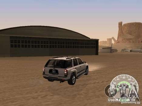 Chevrolet Trail Blazer para GTA San Andreas traseira esquerda vista