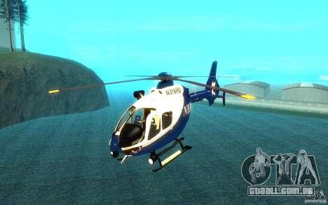 NYPD Eurocopter por SgtMartin_Riggs para GTA San Andreas
