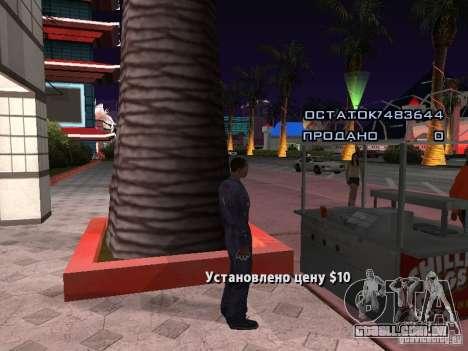Vendedor de cachorro-quente para GTA San Andreas segunda tela