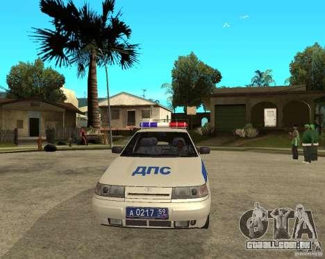 LADA 21103 DPS para GTA San Andreas vista traseira