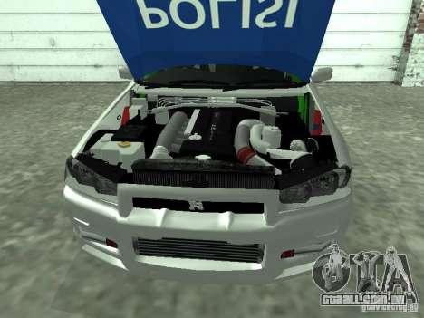 Nissan Skyline Indonesia Police para GTA San Andreas vista direita