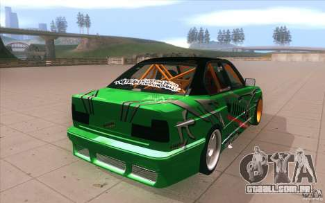 BMW E34 V8 Wide Body para vista lateral GTA San Andreas