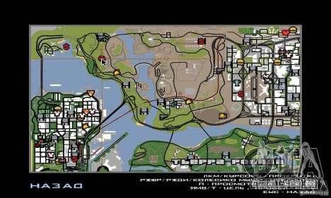 Área no deserto para GTA San Andreas quinto tela