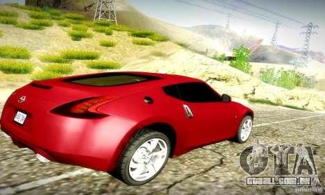 Nissan 370Z V2 para GTA San Andreas vista traseira