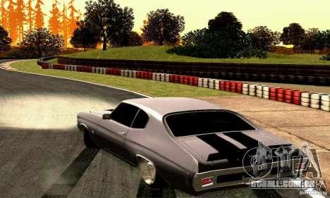 Chevrolet Chevelle 1970 para GTA San Andreas traseira esquerda vista