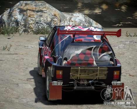 Mitsubishi Pajero Proto Dakar vinil 3 para GTA 4 vista lateral