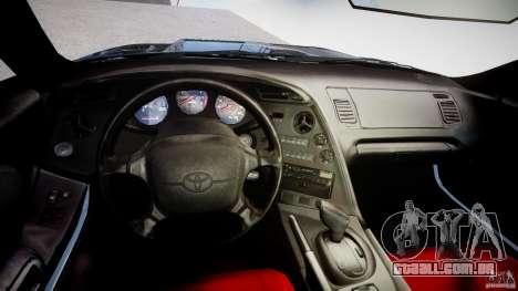 Toyota Supra JZA80 para GTA 4 vista direita