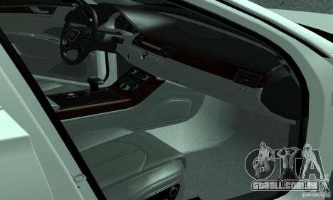 Audi A8 para GTA San Andreas vista direita
