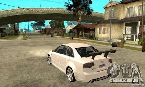 Audi RS4 2006 para GTA San Andreas traseira esquerda vista
