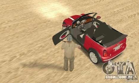 Mini Cooper Convertible para GTA San Andreas vista traseira