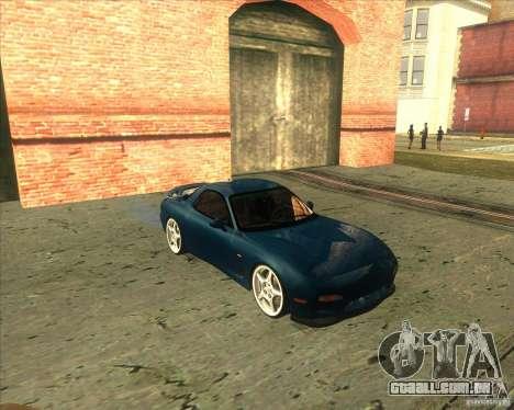 Mazda RX 7 para GTA San Andreas esquerda vista