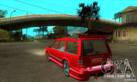 Volvo 945 Wentworth R with bodykit (1.2) para GTA San Andreas traseira esquerda vista