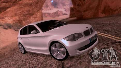 BMW 120i 2009 para GTA San Andreas