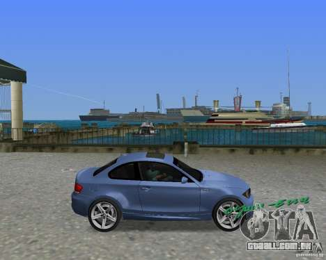 BMW 135i para GTA Vice City vista direita