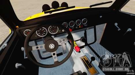 Volkswagen Fusca Buggy 1963 para GTA 4 vista de volta
