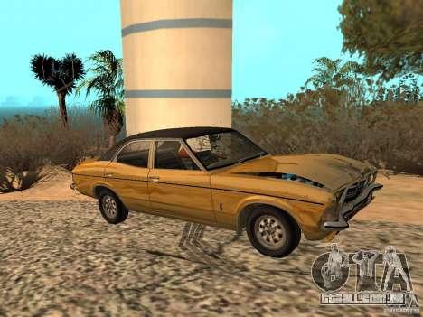 Ford Cortina MK 3 Life On Mars para GTA San Andreas vista traseira