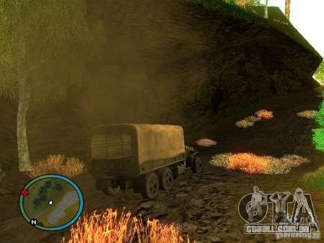 Millitary Truck from Mafia II para GTA San Andreas vista direita