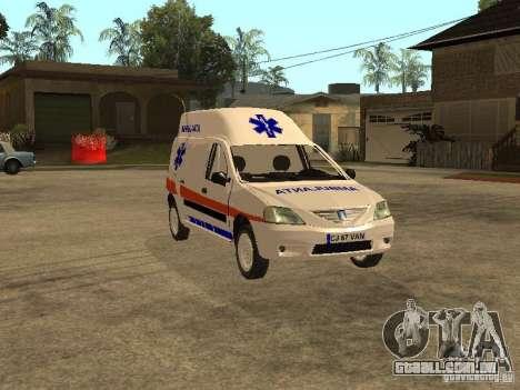 Dacia Logan Ambulanta para GTA San Andreas