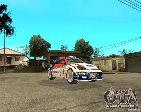 Ford Focus WRC 2002 para GTA San Andreas vista direita