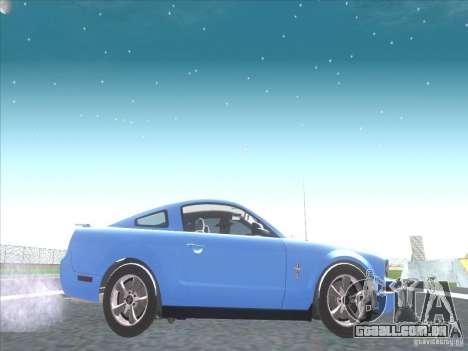 Ford Mustang Pony Edition para GTA San Andreas vista traseira