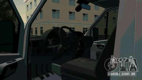 Mercedes-Benz Sprinter ressuscitação para GTA San Andreas traseira esquerda vista
