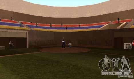 Campo de beisebol animado para GTA San Andreas por diante tela