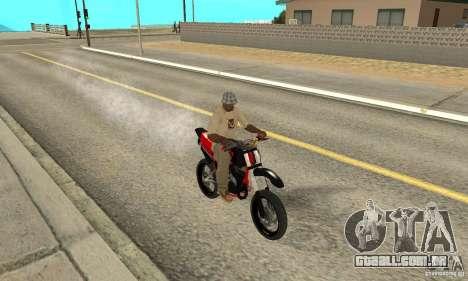 DT 180 Motard para GTA San Andreas esquerda vista