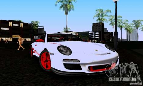 Porsche 911 GT3 RS para GTA San Andreas traseira esquerda vista