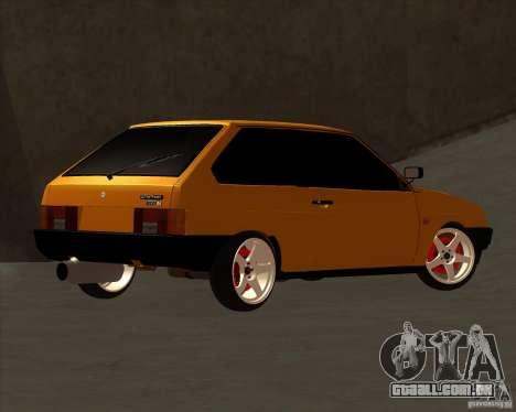 VAZ 2108 (versão com discos brancos) para GTA San Andreas vista traseira