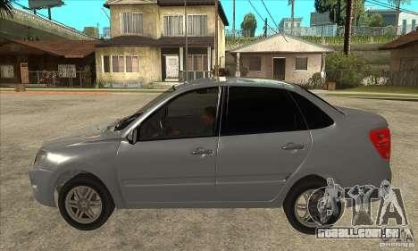 Lada VAZ-2190 Granta Grant para GTA San Andreas esquerda vista