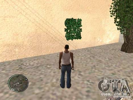 My Gang Tags para GTA San Andreas por diante tela