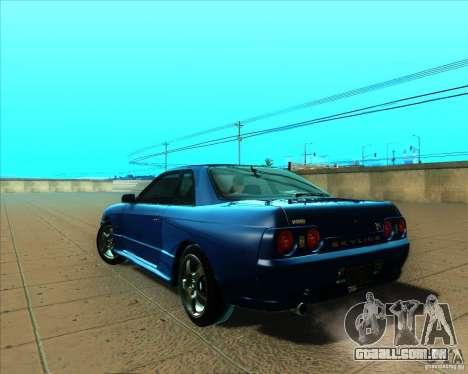 Nissan Skyline GT-R R32 1993 Tunable para GTA San Andreas vista traseira
