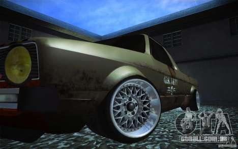 US Army Volkswagen Caddy para GTA San Andreas vista traseira