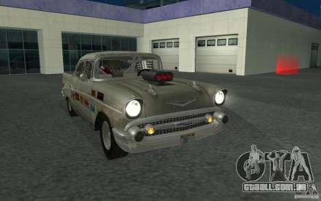Chevrolet BelAir Bloodring Banger 1957 para GTA San Andreas vista traseira