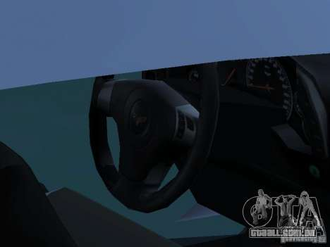 Chevrolet Corvette Stingray para GTA San Andreas vista traseira