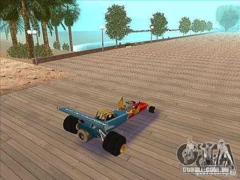 Dragg car para GTA San Andreas traseira esquerda vista