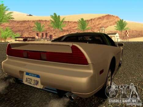 Honda NSX Custom para GTA San Andreas esquerda vista