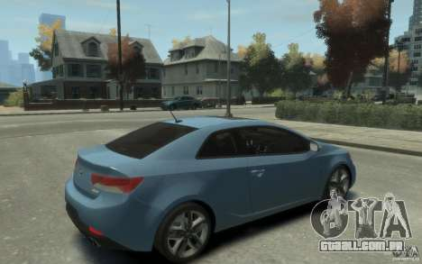 Kia Forte Koup SX para GTA 4 vista direita