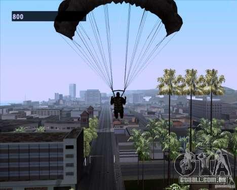 Black Ops Parachute para GTA San Andreas quinto tela