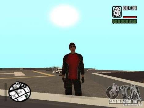 Skydiver para GTA San Andreas por diante tela