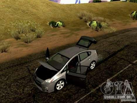 Toyota Prius Hybrid 2011 para GTA San Andreas vista interior