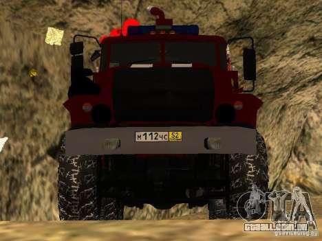 Ural 43206 AC 3.0-40 (6 x 6) para GTA San Andreas vista traseira