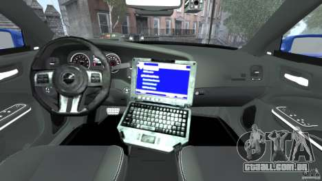 Dodge Charger Unmarked Police 2012 [ELS] para GTA 4 vista de volta